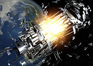 Las fuentes de desechos espaciales - explosiones de cuerpos de cohetes