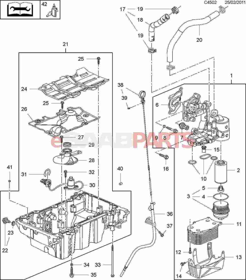 medium resolution of 11562588 saab oil drain plug genuine saab parts from esaabparts com saab oil diagram