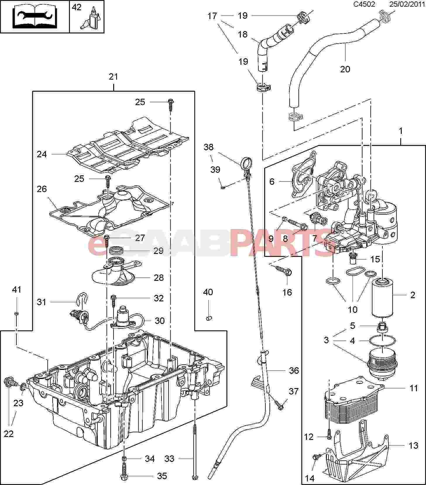 hight resolution of 11562588 saab oil drain plug genuine saab parts from esaabparts com saab oil diagram