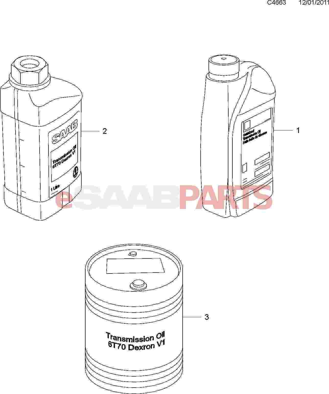 [93165147] SAAB ATF Automatic Transmission Fluid (6-Speed