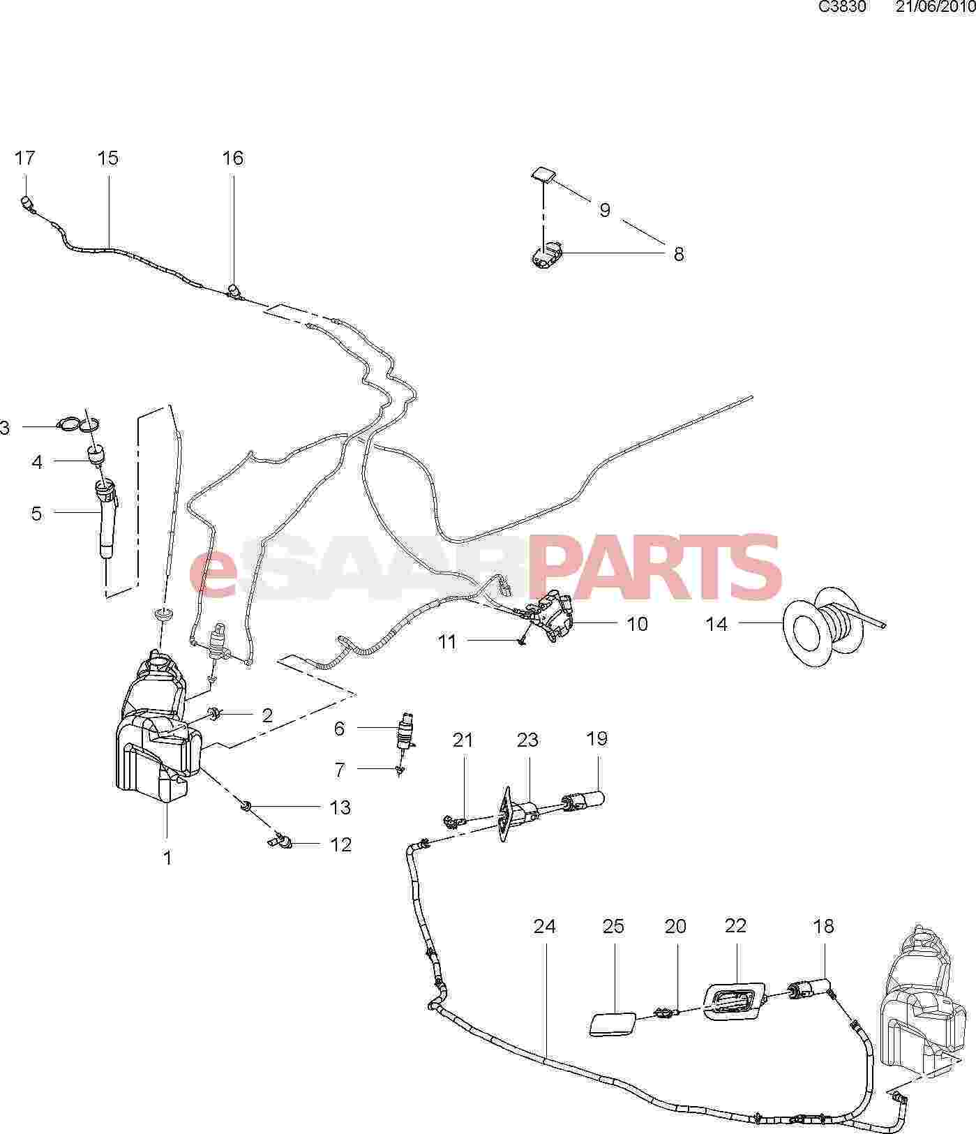 hight resolution of esaabparts com saab 9 5 650 electrical parts wipers washing system washer system headlamp washers