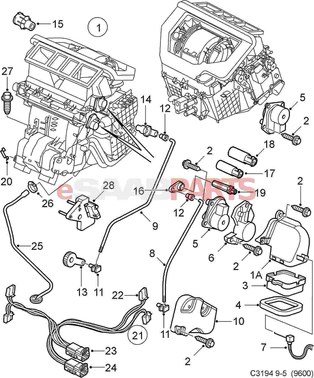[WRG-7045] Saab 9000 Air Conditioning Wiring Diagram