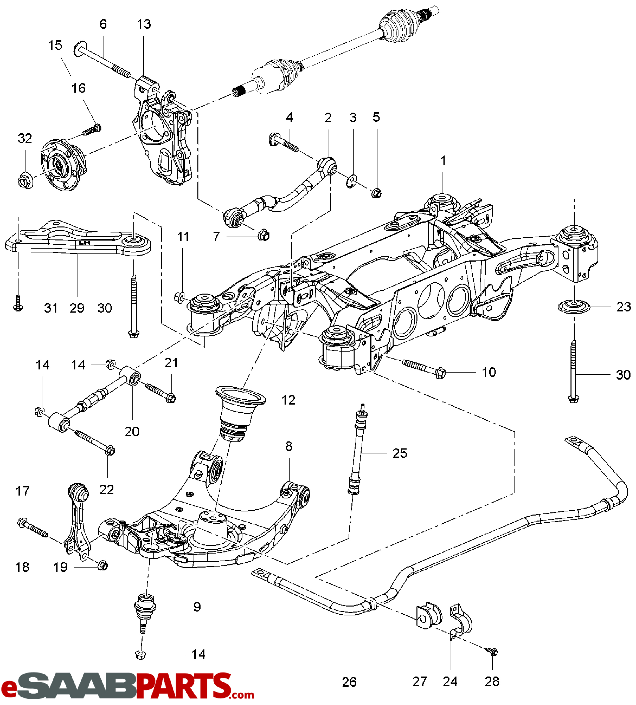 Saab 9 3 Front Suspension Diagram