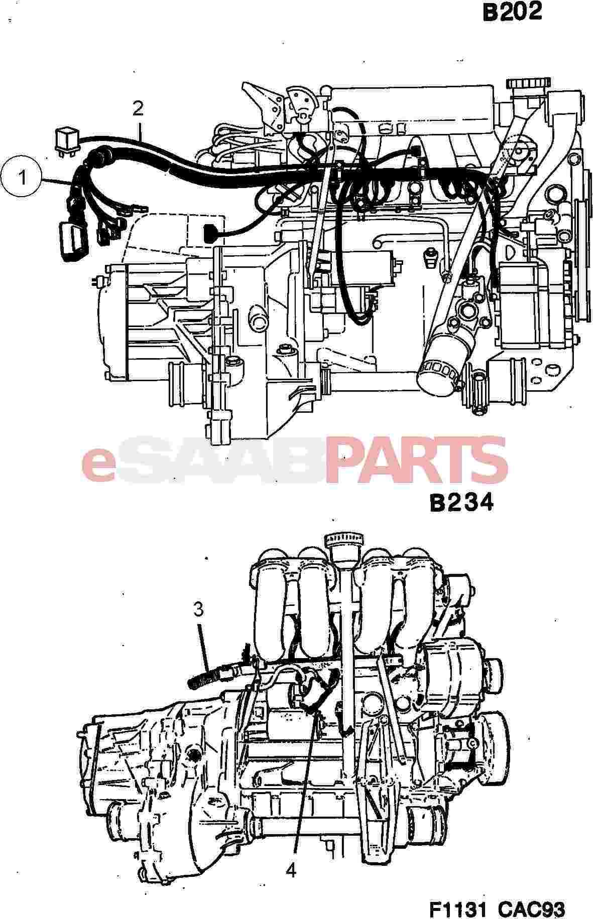 hight resolution of esaabparts com saab 9000 u003e electrical parts u003e wiring harness u003e engine saab 9000 engine wiring harness saab 9000 wiring harness