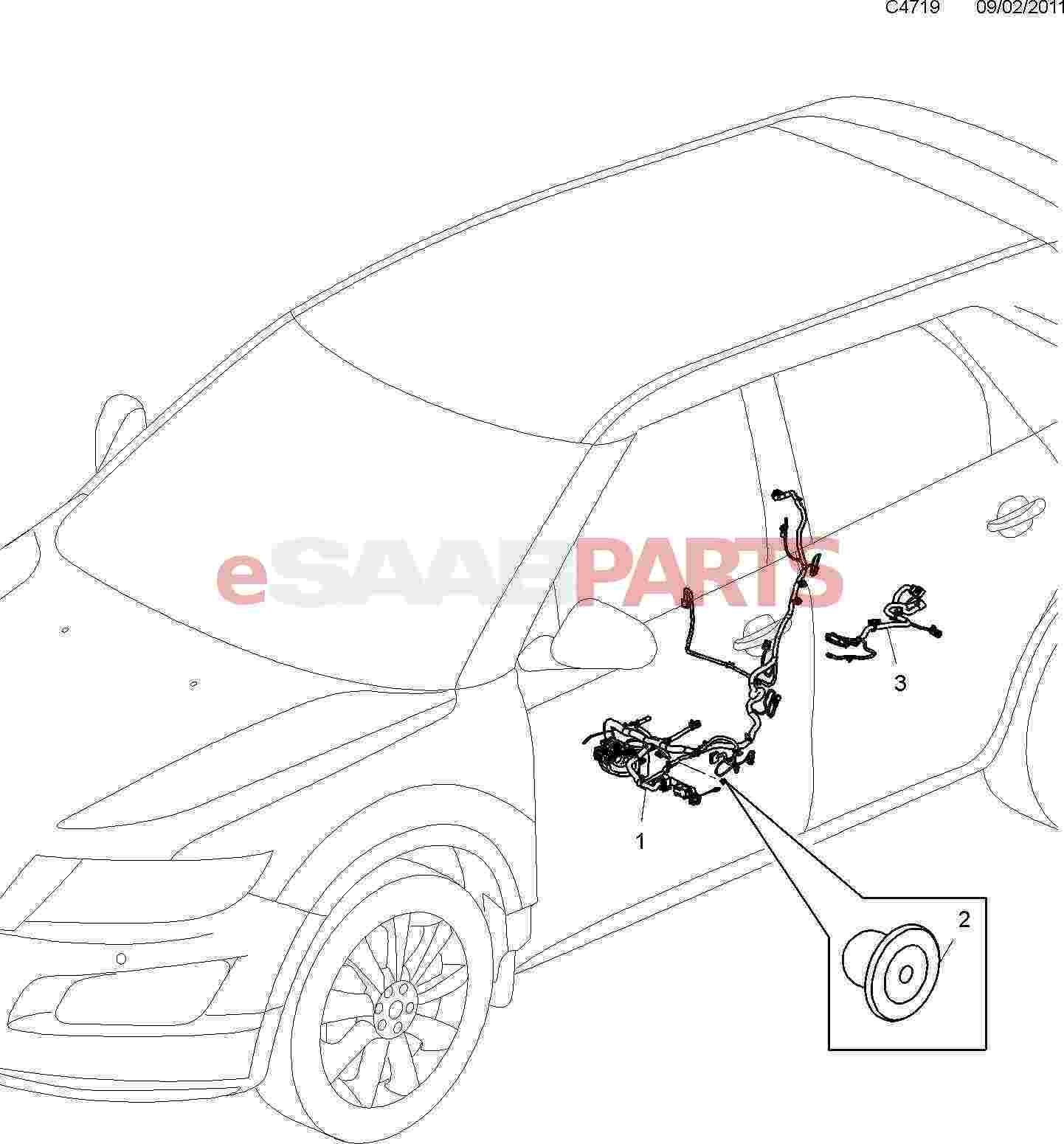 Saab 9 3 Rear Wire Harness