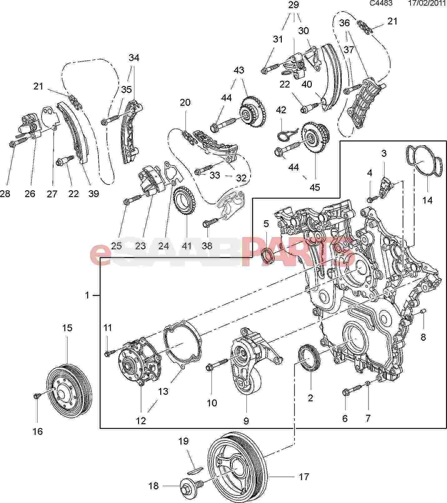 Saab Timing Chain