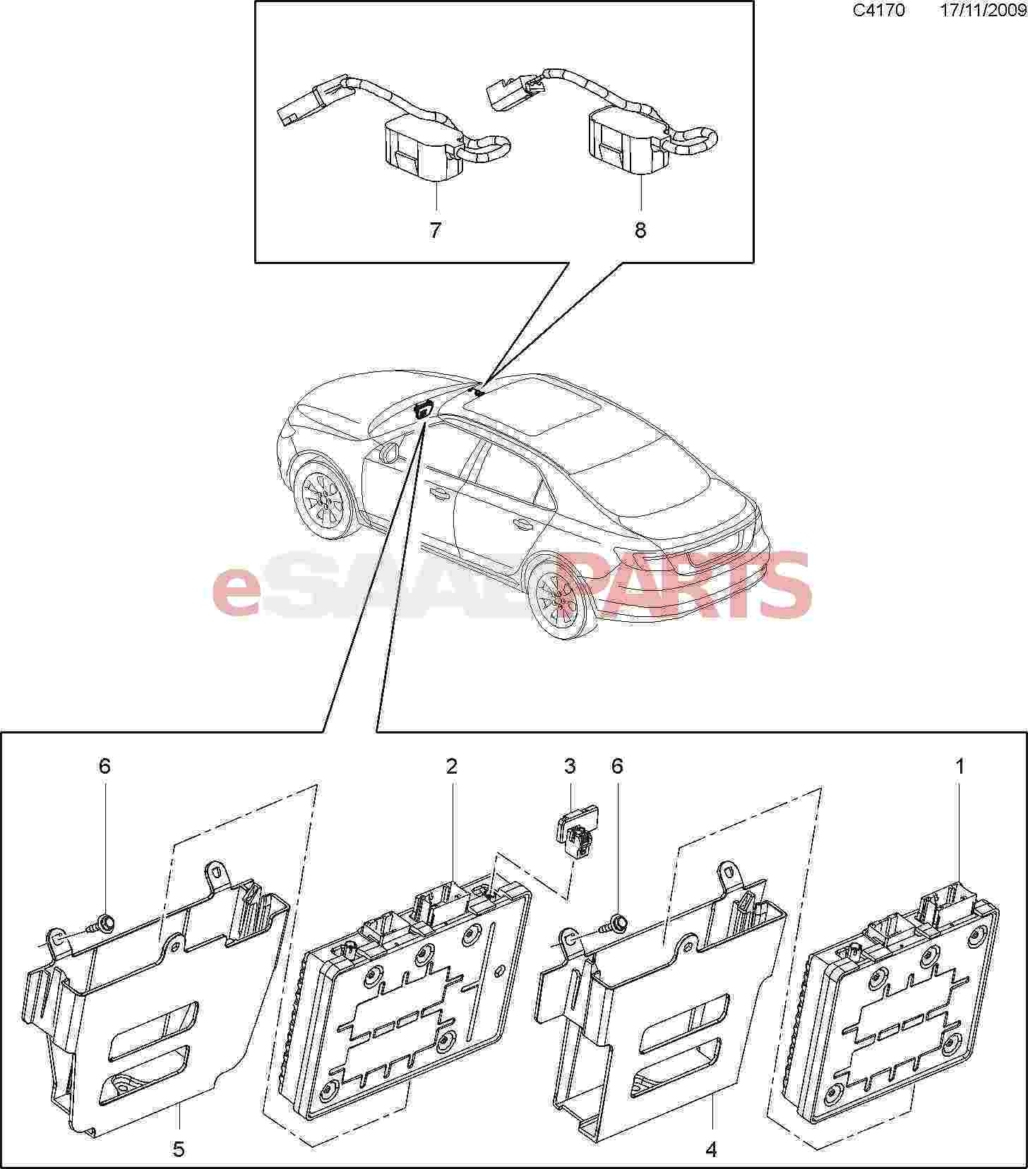 [15938939] SAAB Bluetooth Wireless Communication Antenna