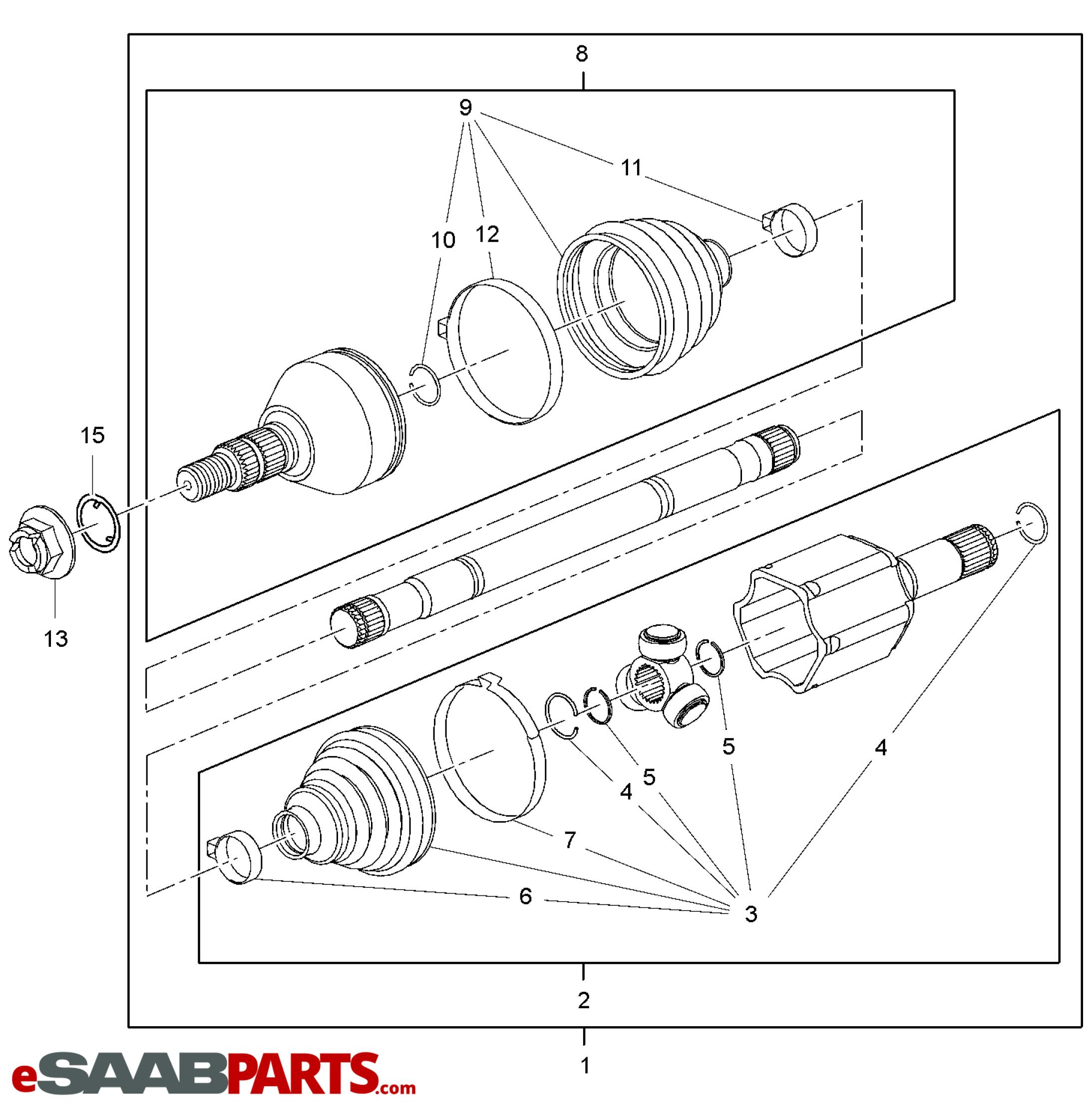 Saab Joint Inner