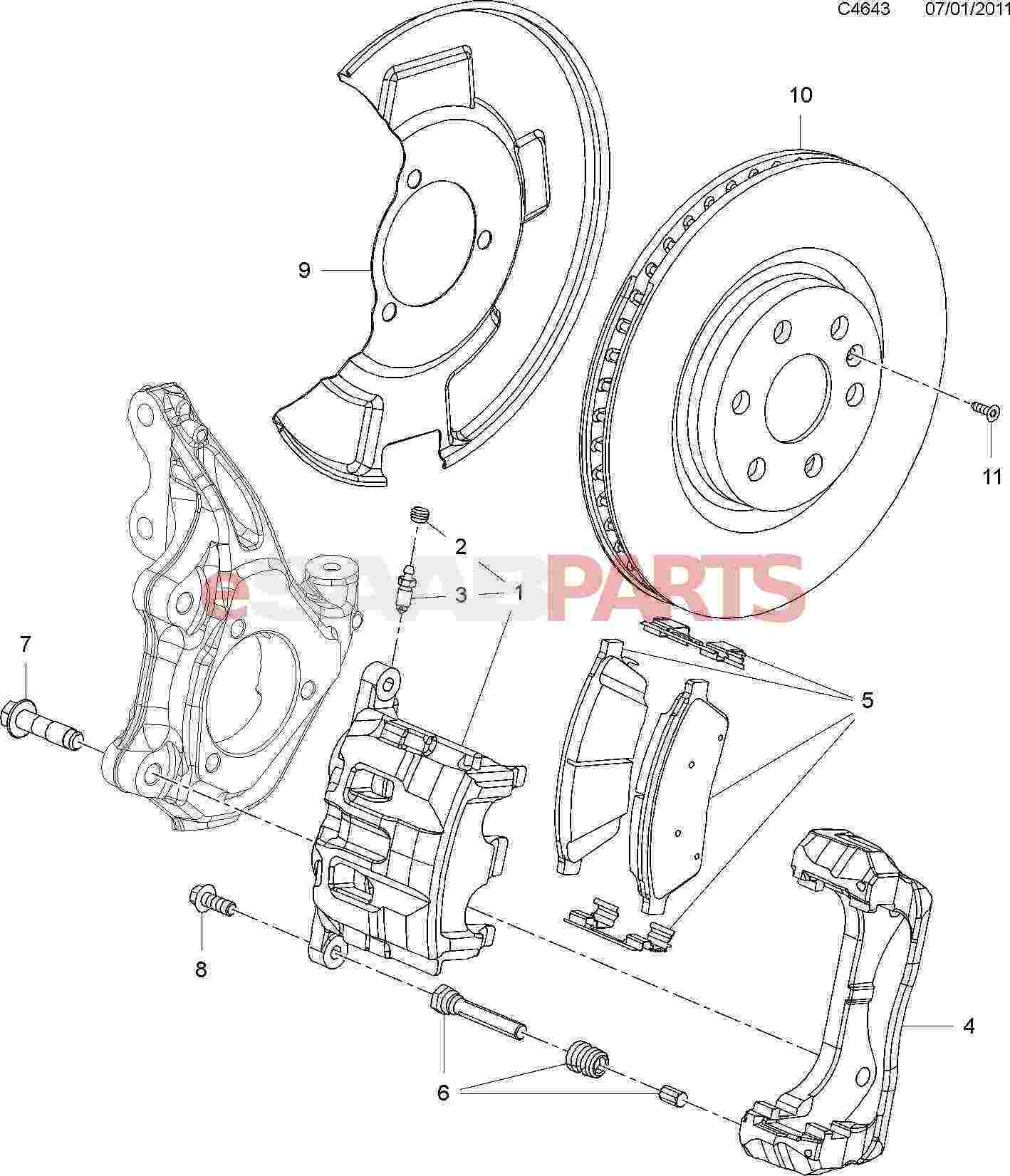 Saab Brake Pad Kit