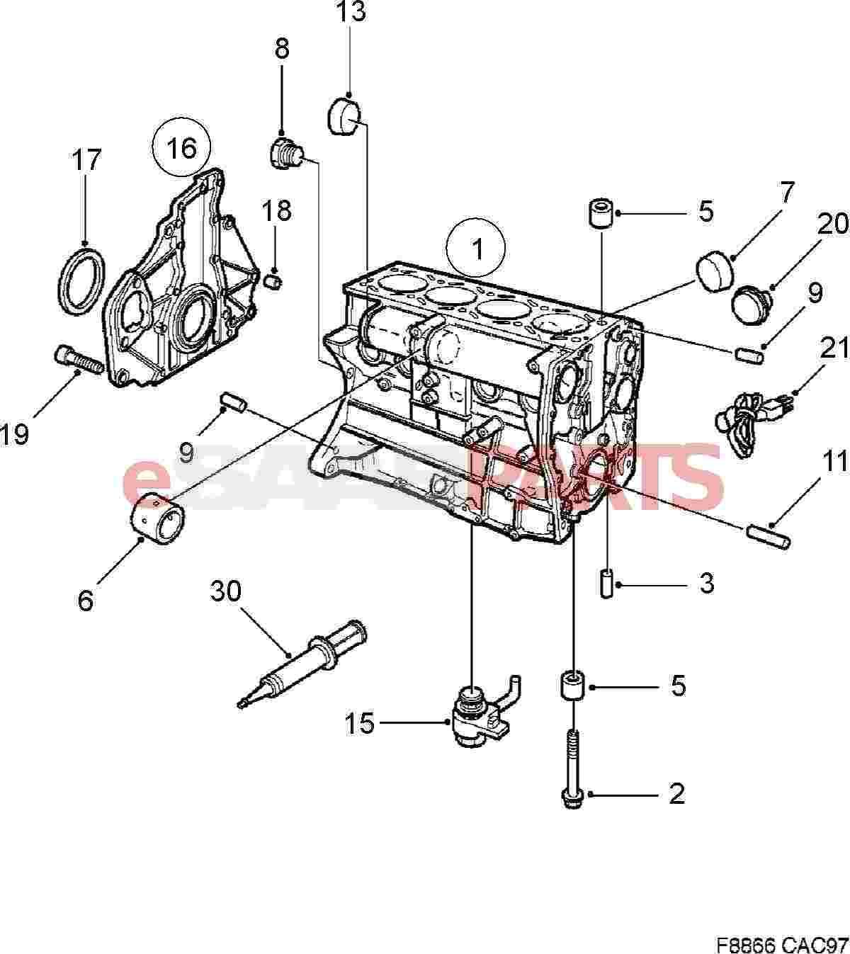 Saab Cylinder Block