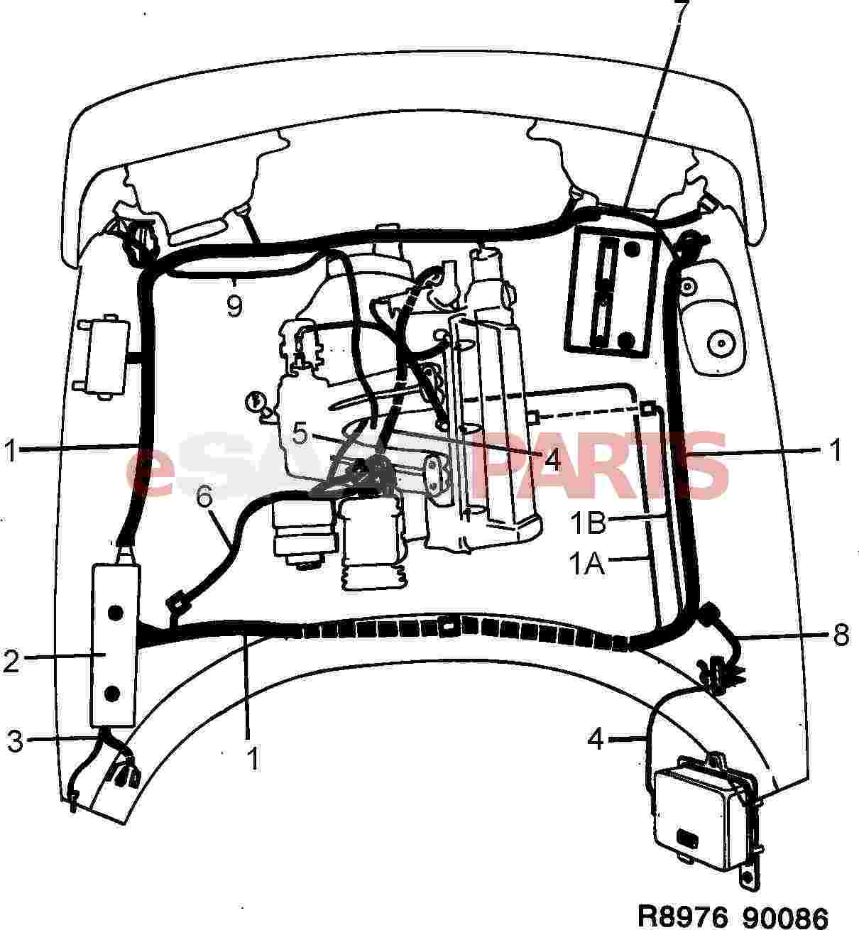 hight resolution of saab wiring harness wiring diagram basic 1986 saab 900 turbo wiring harness esaabparts com saab 900
