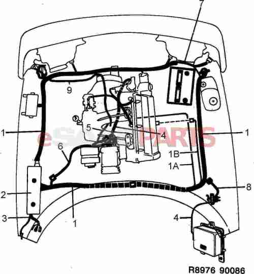 small resolution of saab wiring harness wiring diagram basic 1986 saab 900 turbo wiring harness esaabparts com saab 900