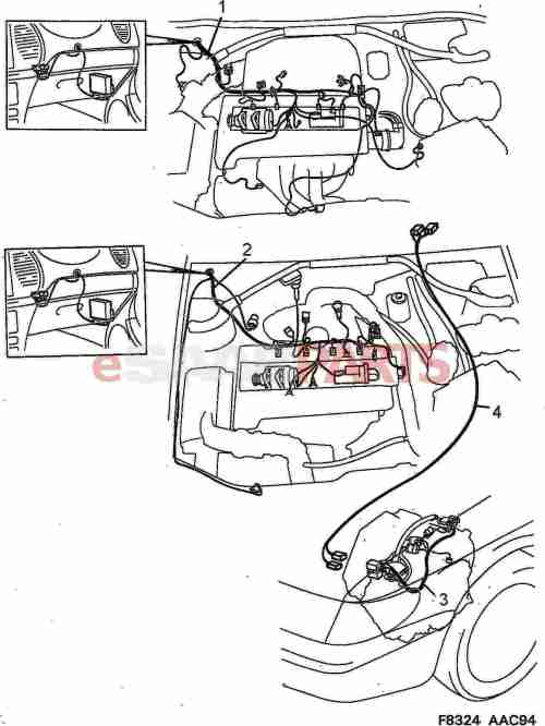 small resolution of esaabparts com saab 900 electrical parts wiring harness motor transmission