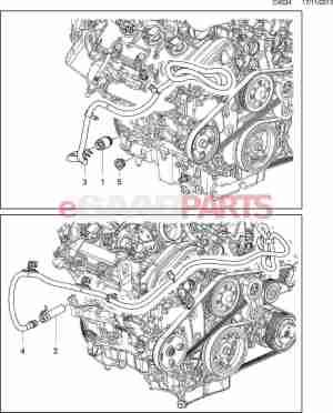 [12586687] SAAB Engine Heater  B284 28T V6  Genuine