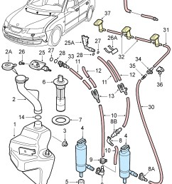 esaabparts com saab 9 3 9440 electrical parts wiper washer system washer system windshield headlights  [ 2029 x 2521 Pixel ]
