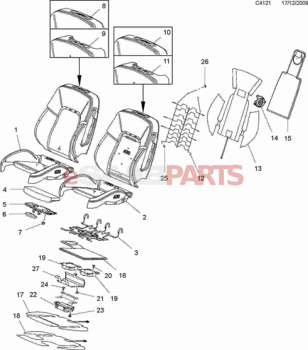 medium resolution of esaabparts com saab 9 5 650 u003e car body internal parts u003e seat rh esaabparts com