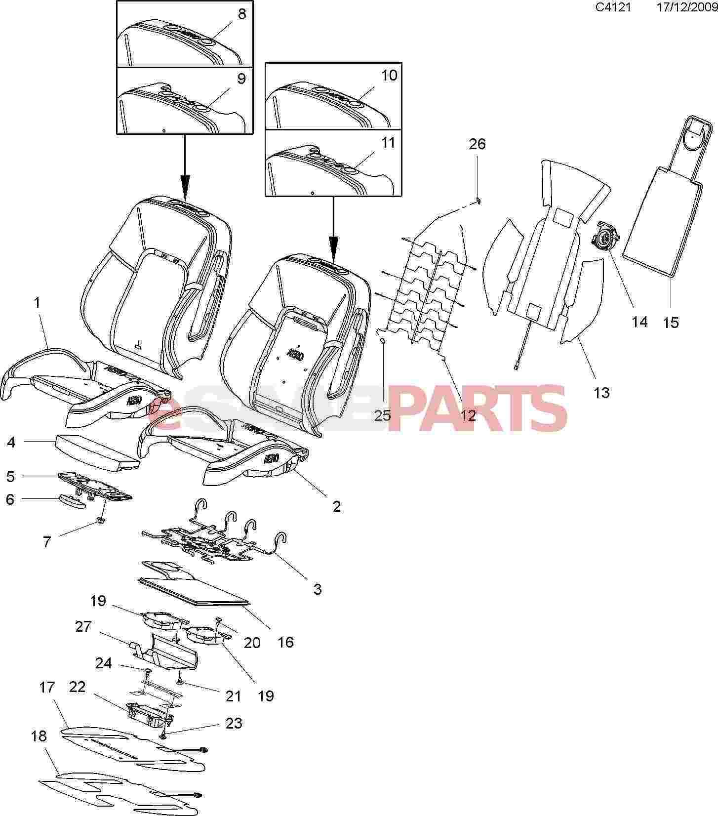 hight resolution of esaabparts com saab 9 5 650 u003e car body internal parts u003e seat rh esaabparts com