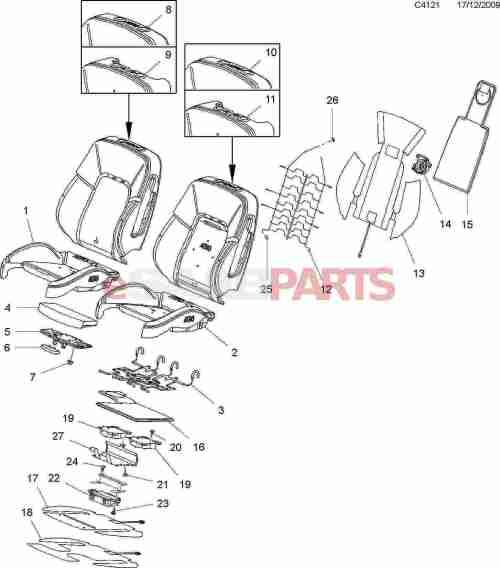 small resolution of esaabparts com saab 9 5 650 u003e car body internal parts u003e seat rh esaabparts com