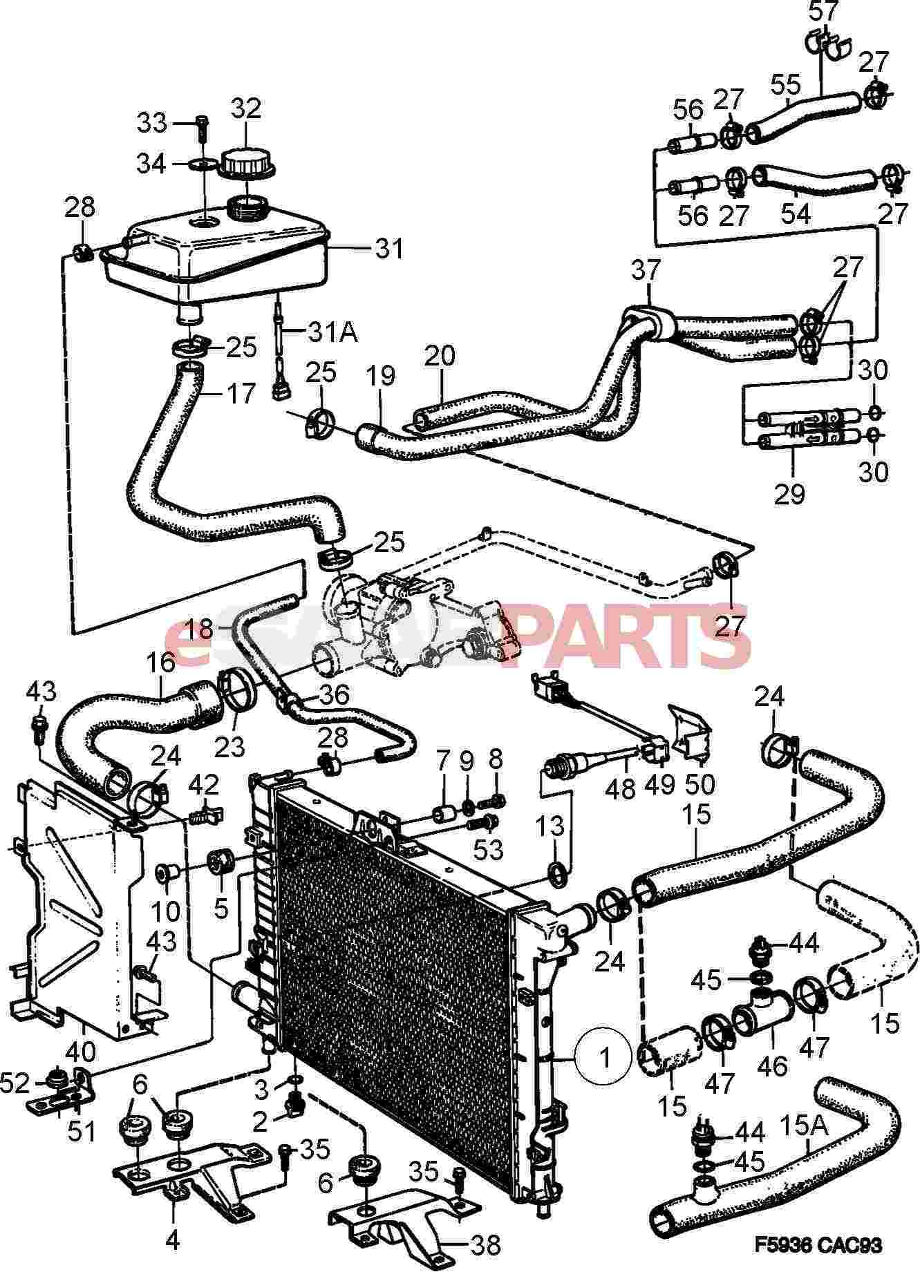 Saab Cooling System Diagram Saab Wiring Diagram Images