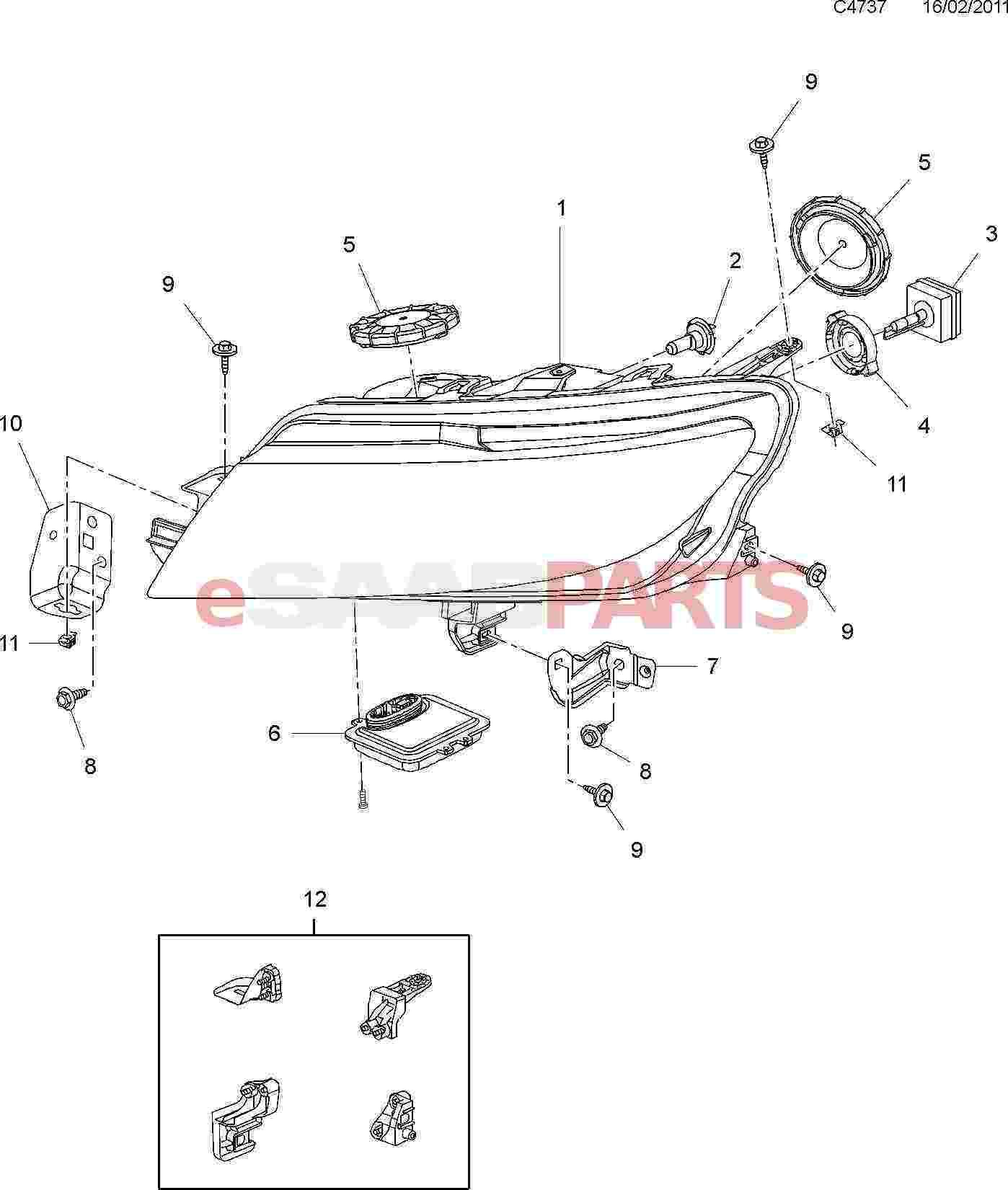 Saab Bulb Socket Retaining Ring Xenon