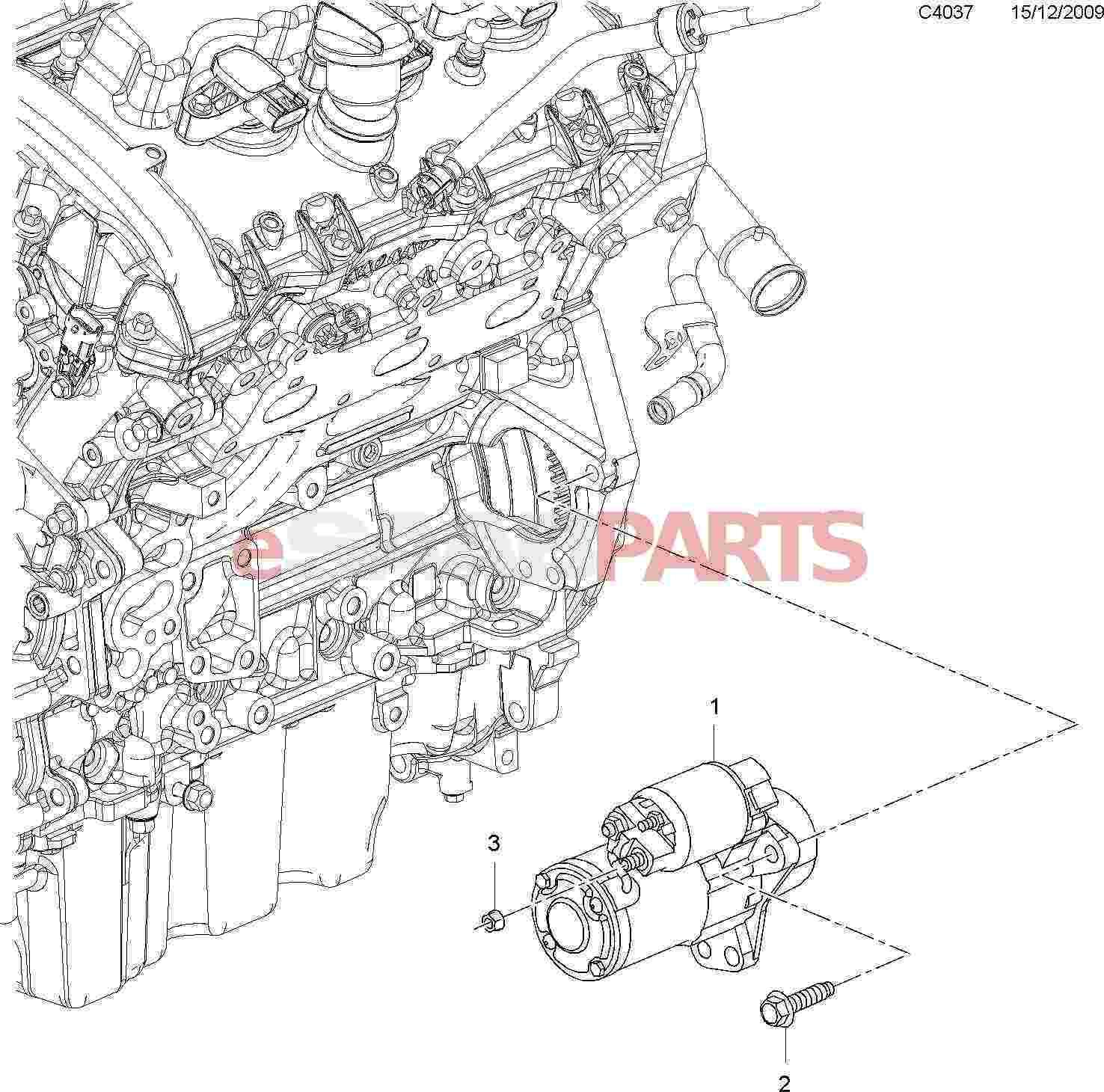 Saab Starter Motor B284 2 8t V6 9 3