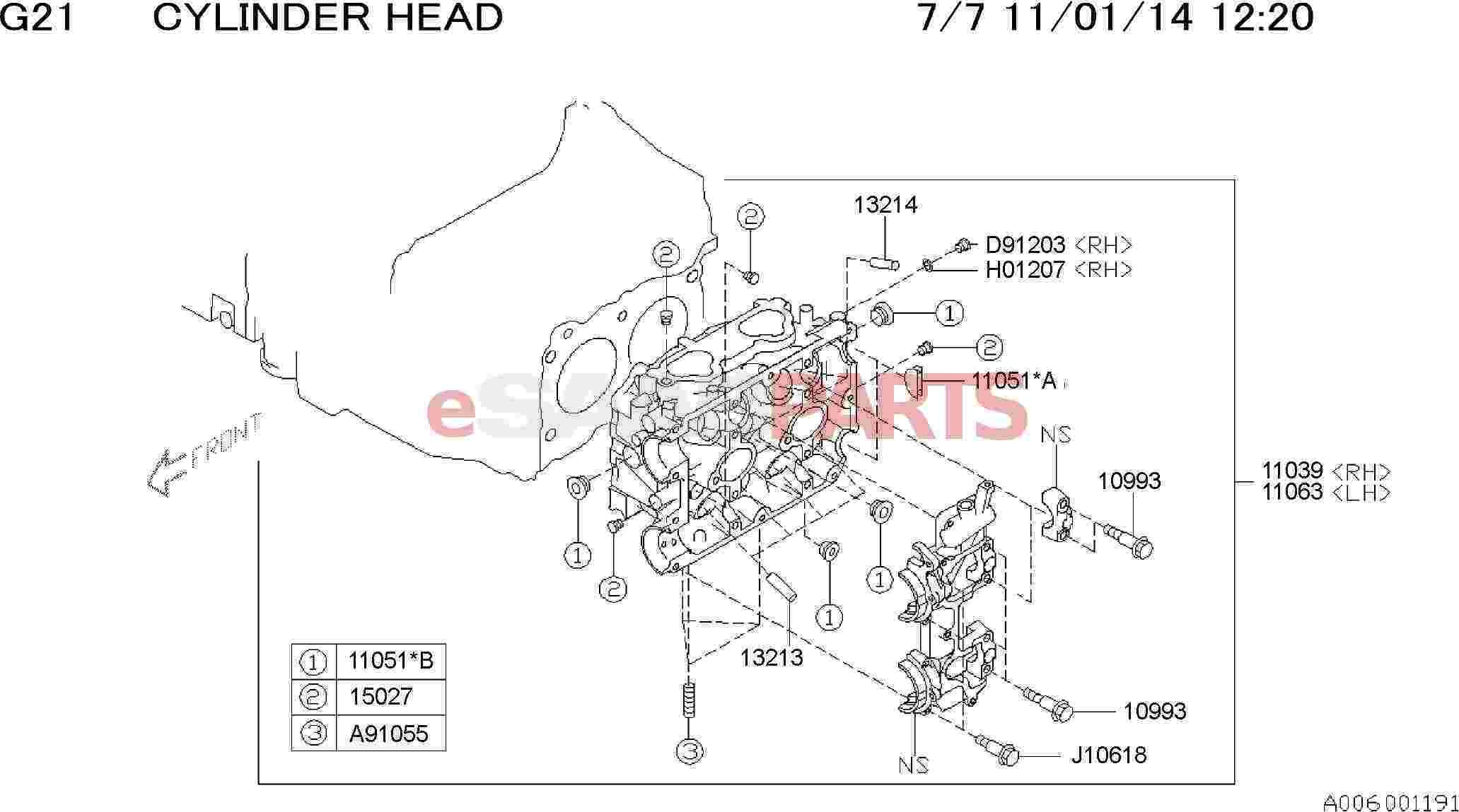 Saab Head Assembly Cylinder