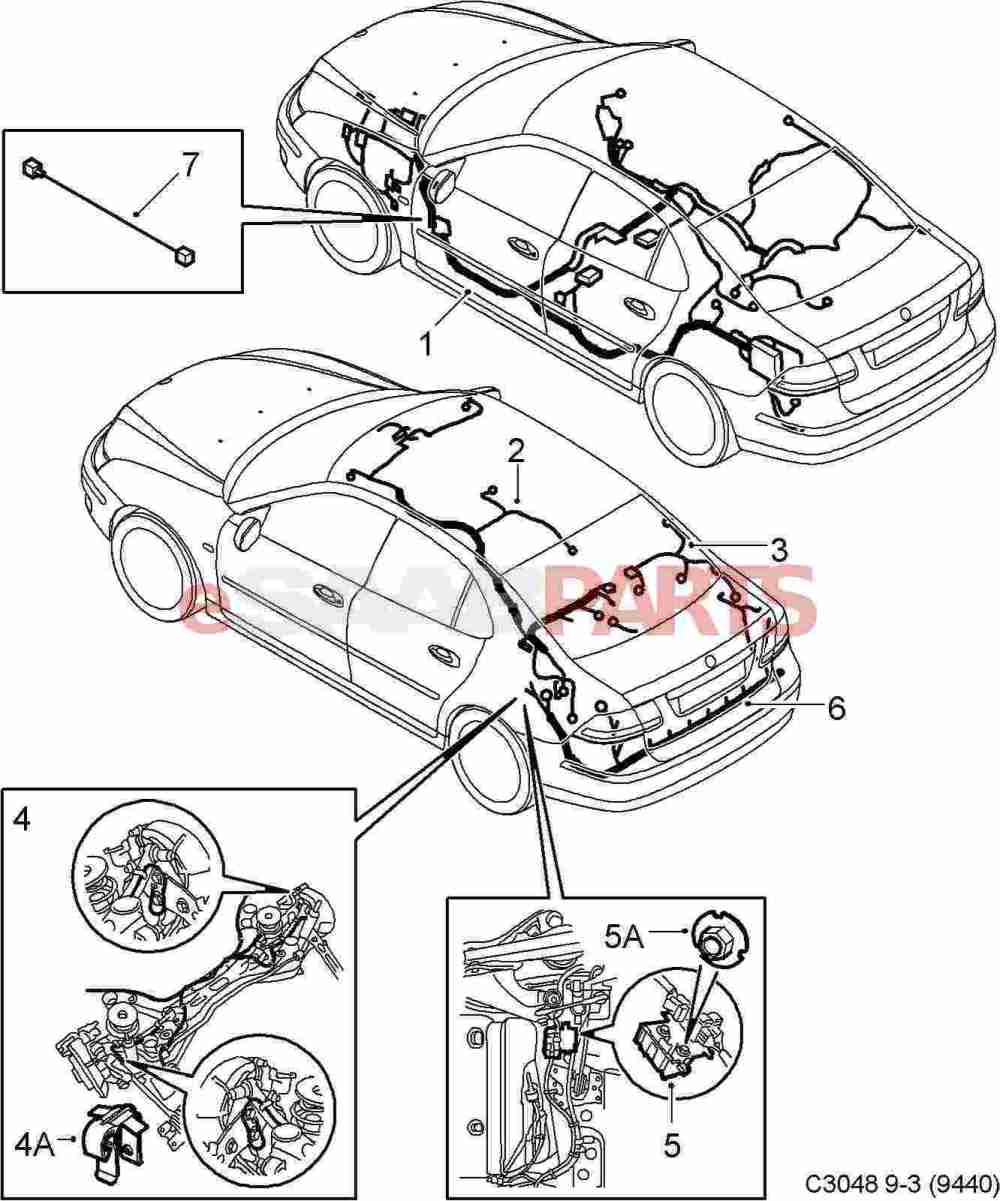 medium resolution of esaabparts com saab 9 3 9440 u003e electrical parts u003e wiring harness wiring harness for saab 9 3 2003