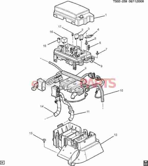 small resolution of esaabparts com saab 9 7x electrical parts electrical relays block accessory wiring junction