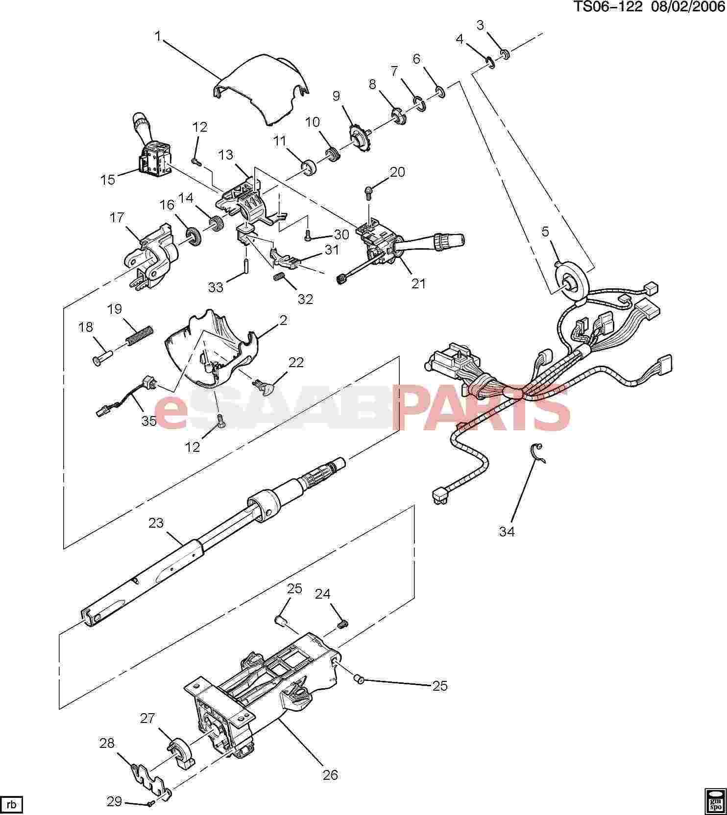 [26069514] SAAB Lever, Steering Column Tilt Wheel Release