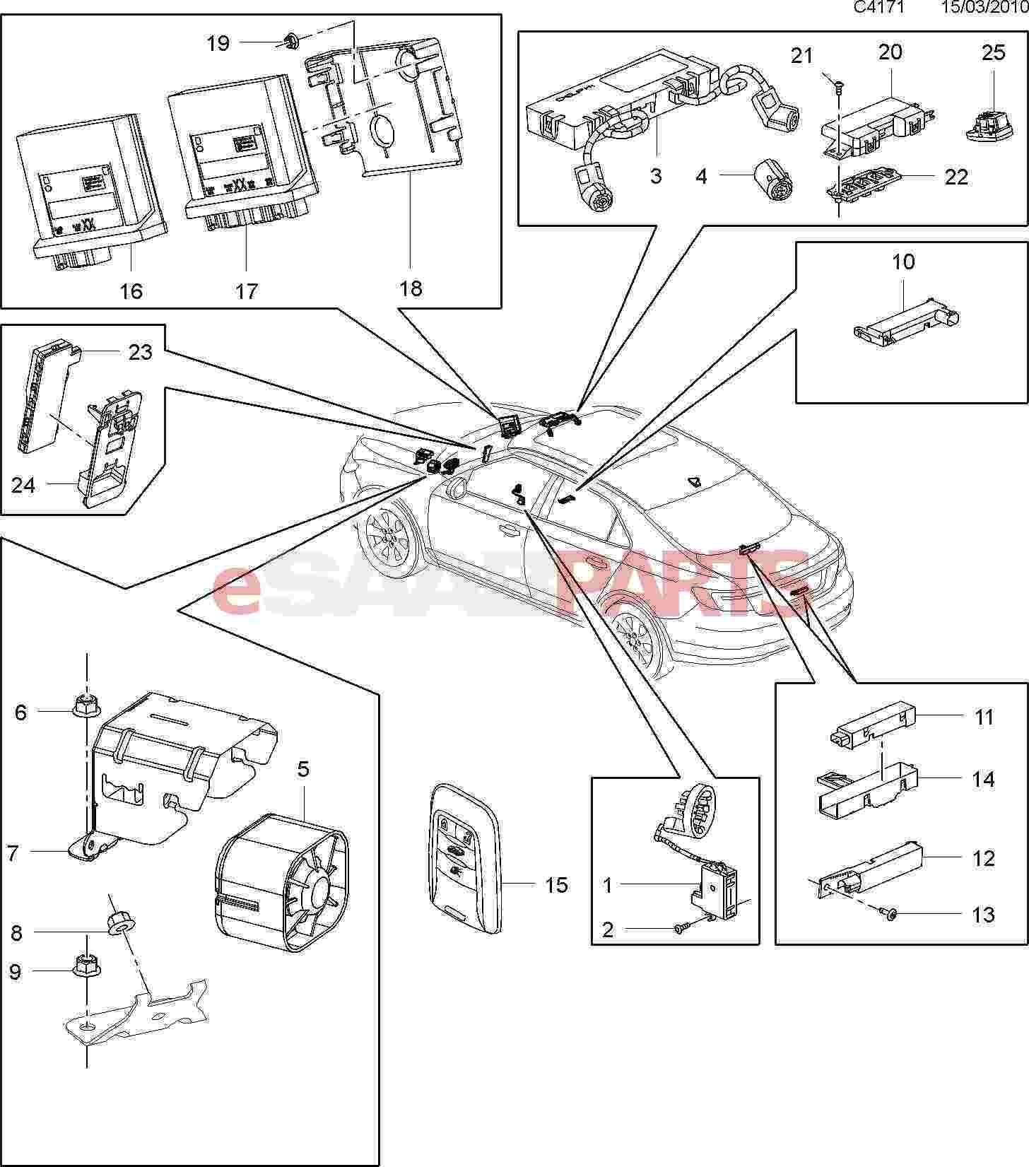 ant parts diagram electric choke wiring 13502551 saab antenna genuine from