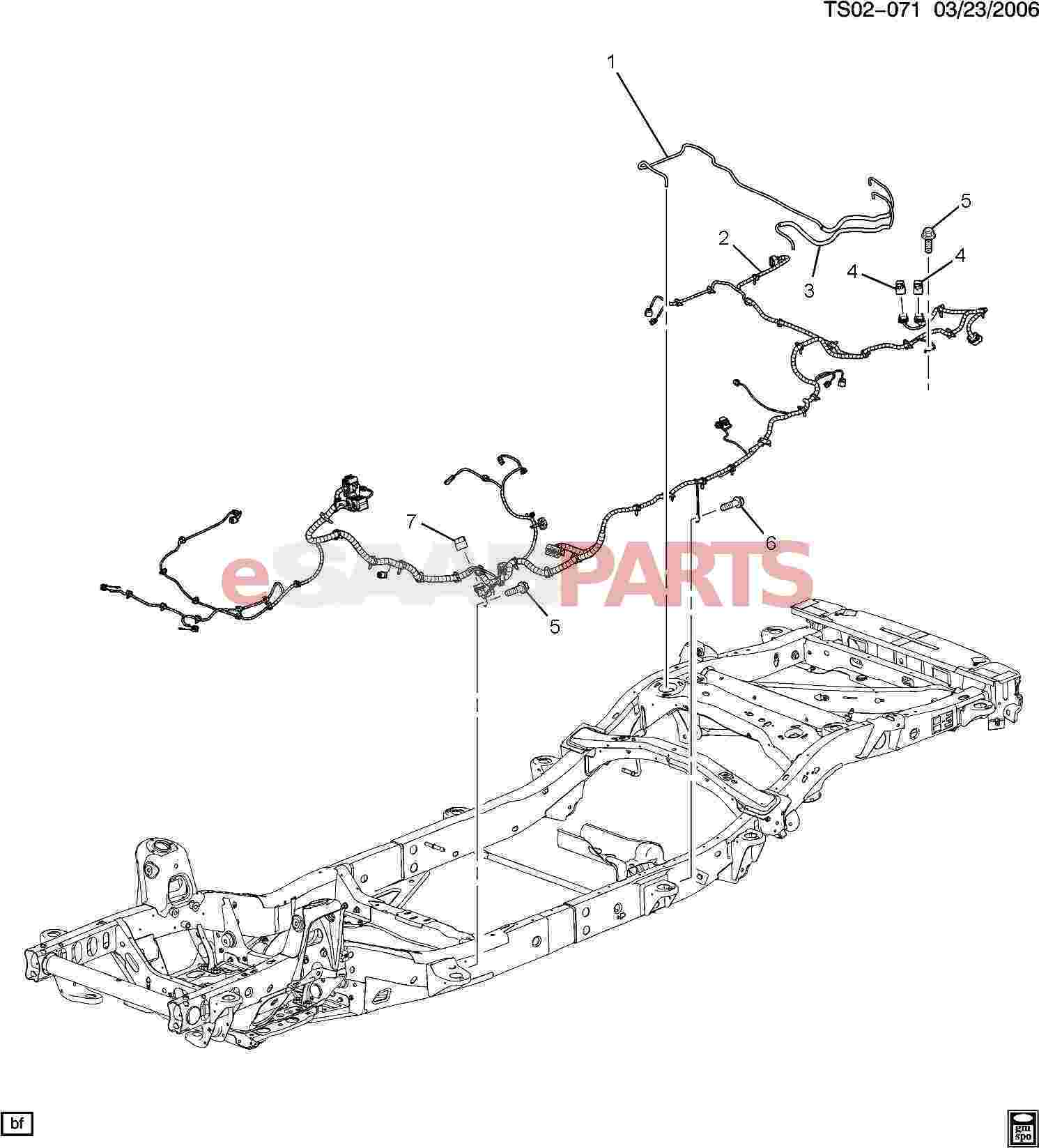 hight resolution of esaabparts com saab 9 7x electrical parts wiring harness wiring harness chassis