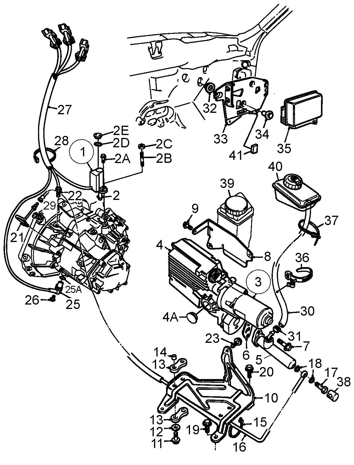 Saab Clutch Actuator Unit