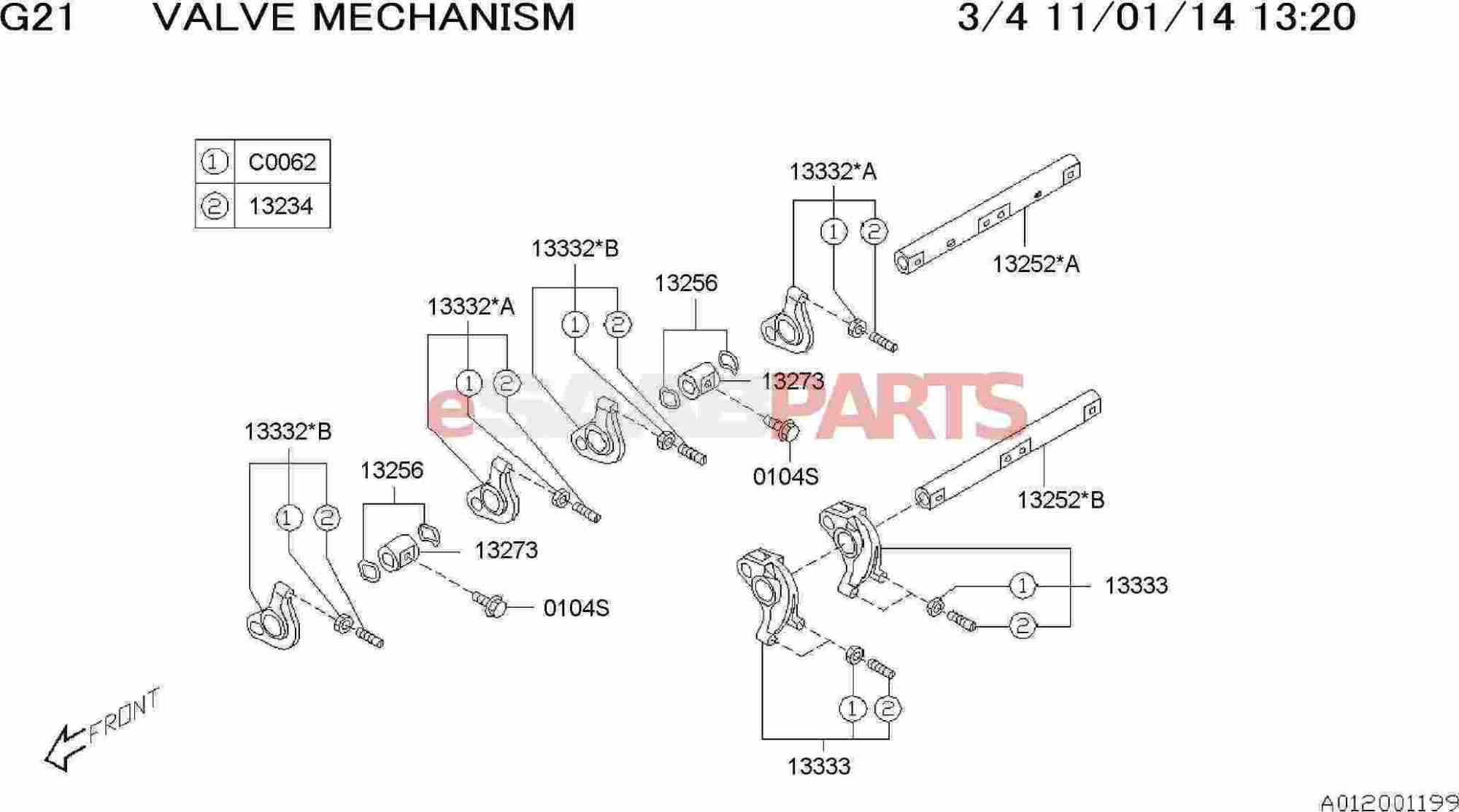 hight resolution of esaabparts com saab 9 2x engine parts engine internal valve mechanism valve rocker