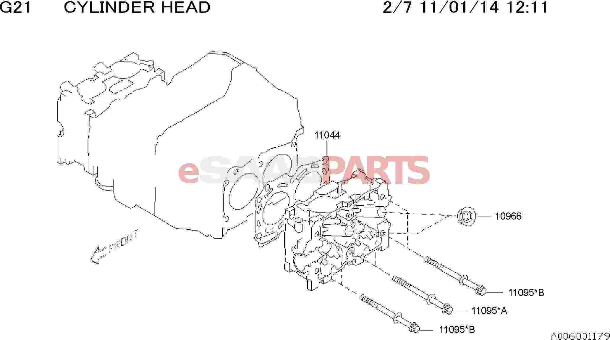 Saab Gasket Spark Plug Pipe