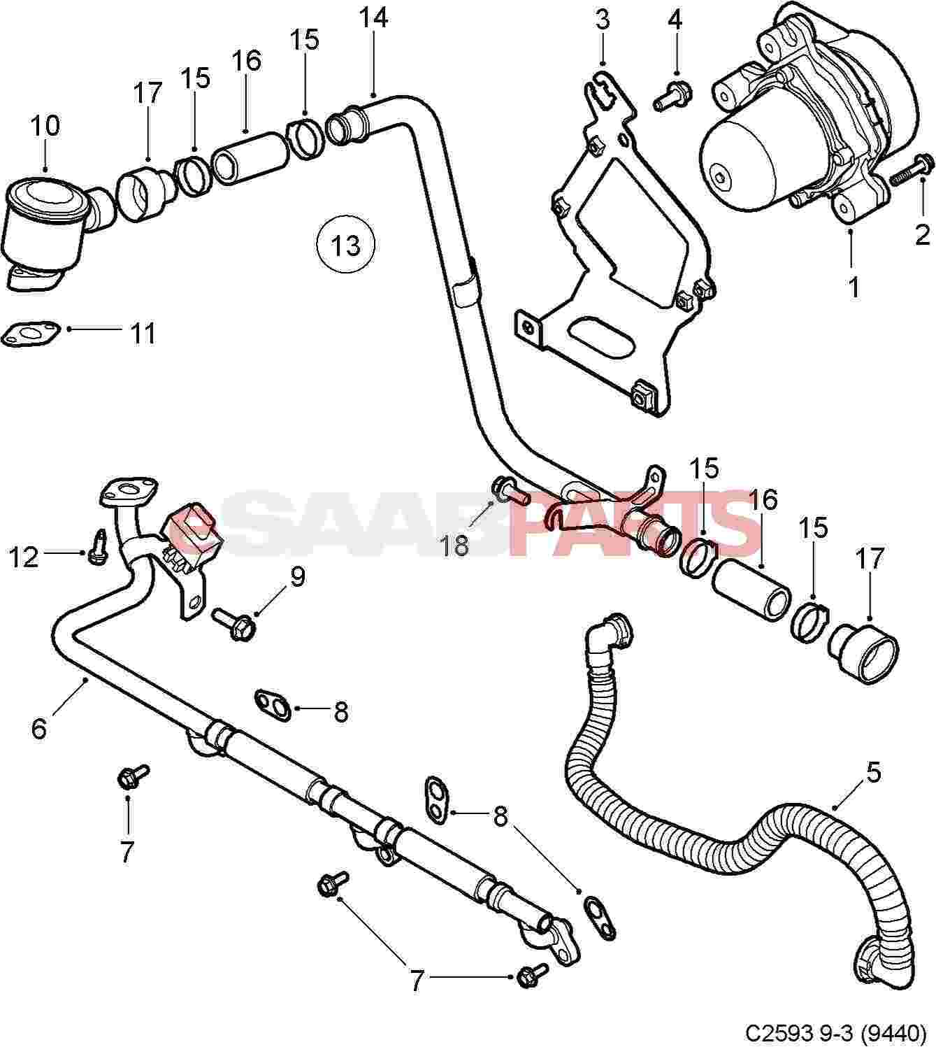 [12791285] SAAB Secondary Air Injection Air Flow Check