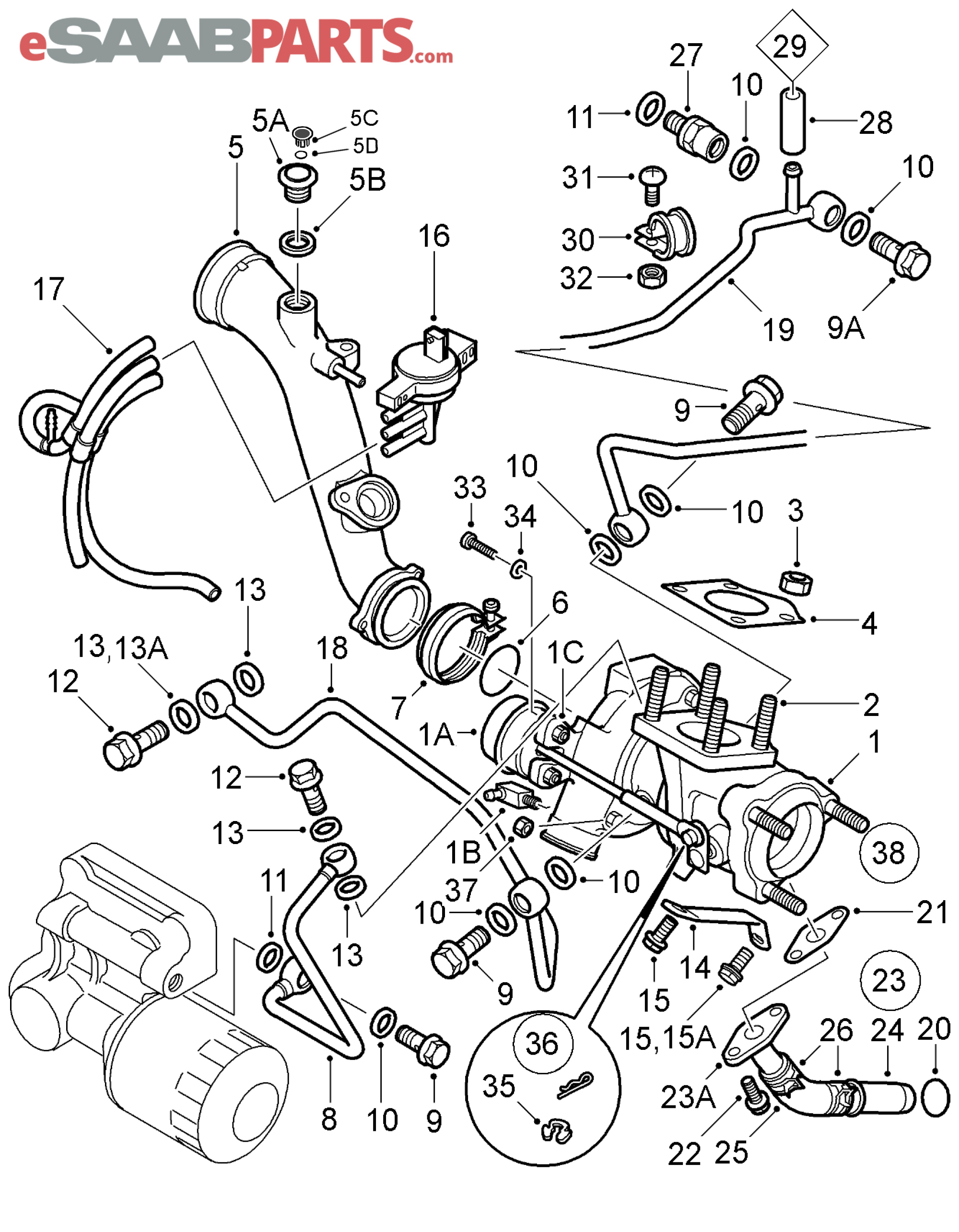 saab 900 engine diagram