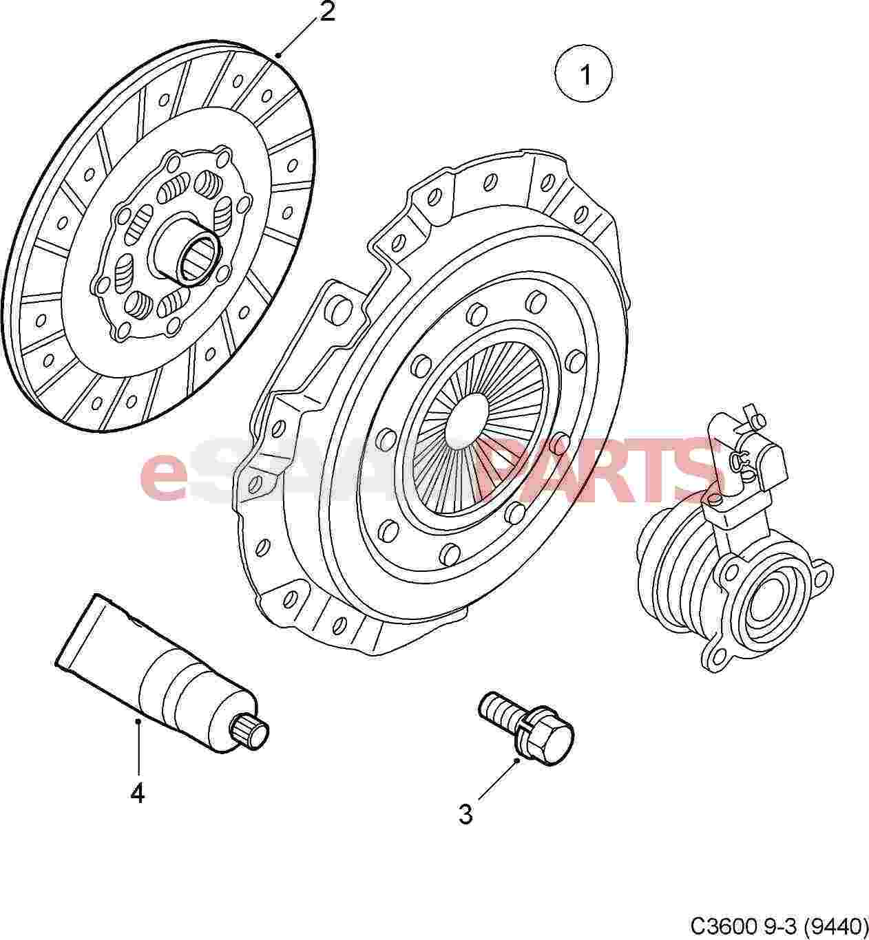 [55581277] SAAB Clutch Kit (9-3 XWD 6-Speed, 9-5NG 2010