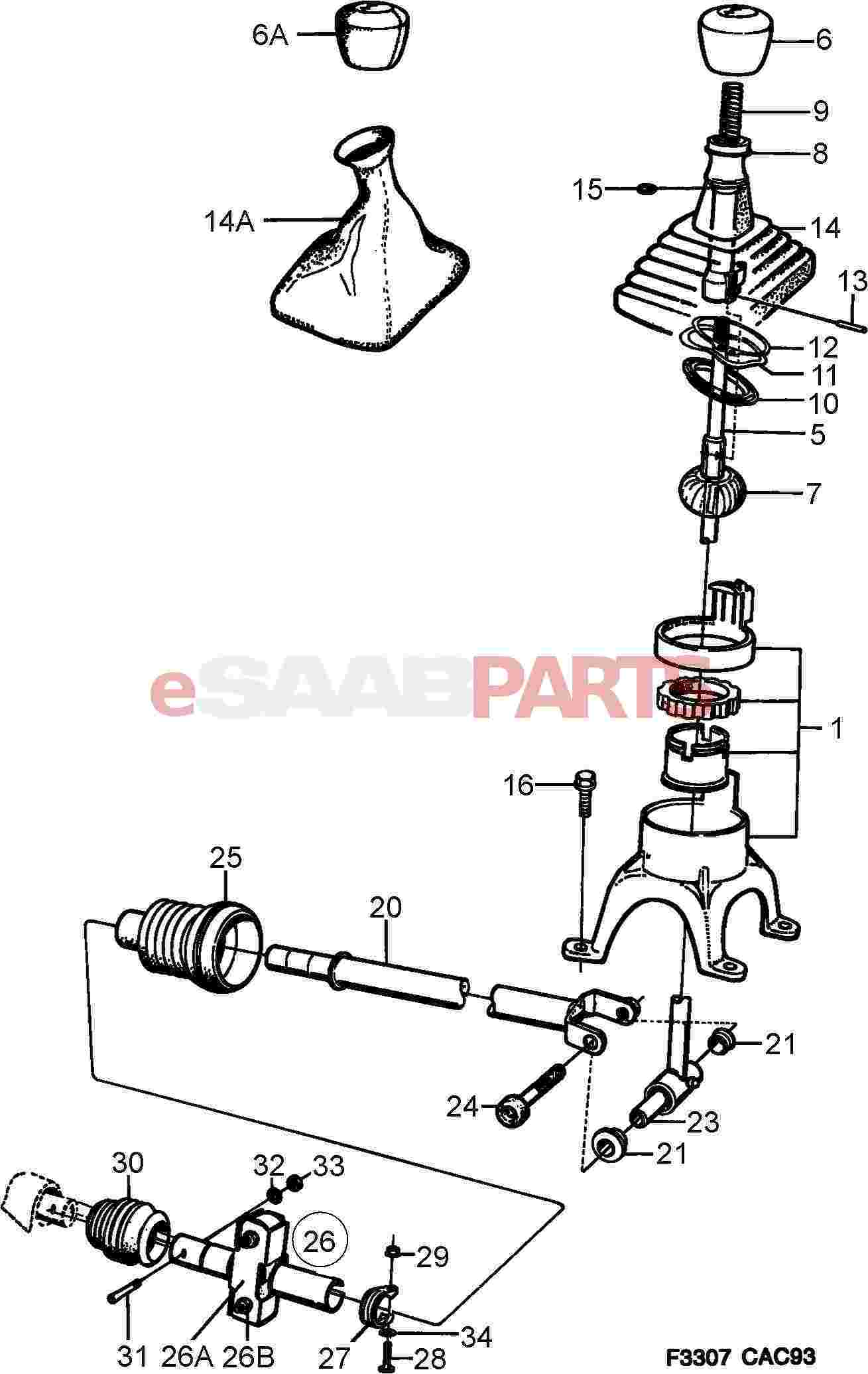 Saab 900s Parts Diagram Shifter Automatic. Saab. Auto