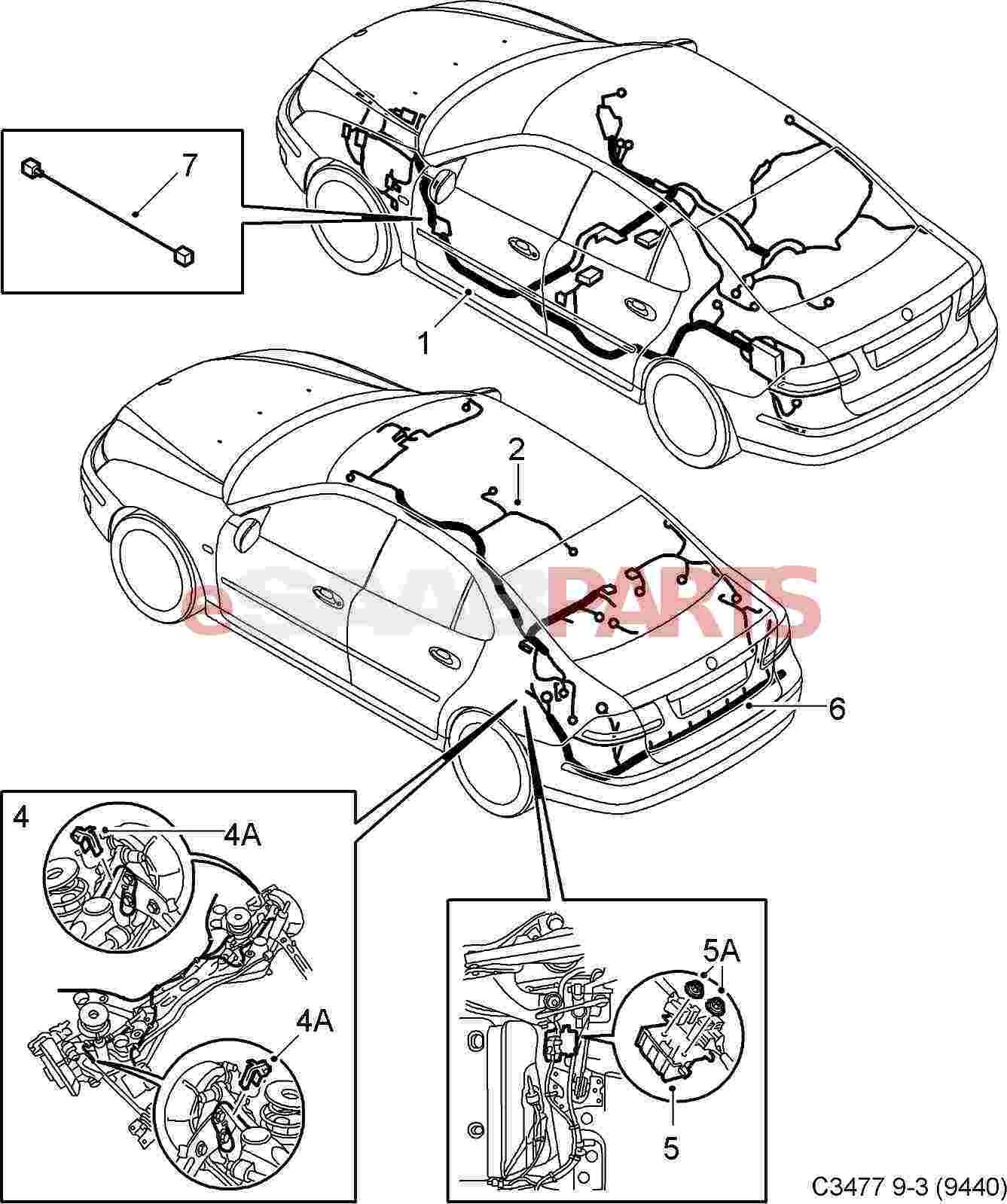 Saab Wiring Harness Body