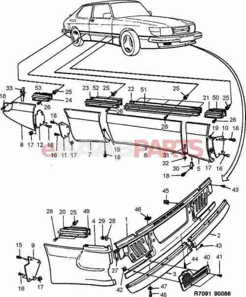 small resolution of esaabparts com saab 900 car body external parts body mouldings external aero kit spg