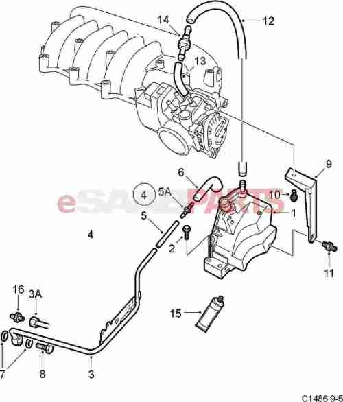 small resolution of 9189564 saab positive crankcase ventilation valve genuine saab 2000 saab 9 5 pcv diagram
