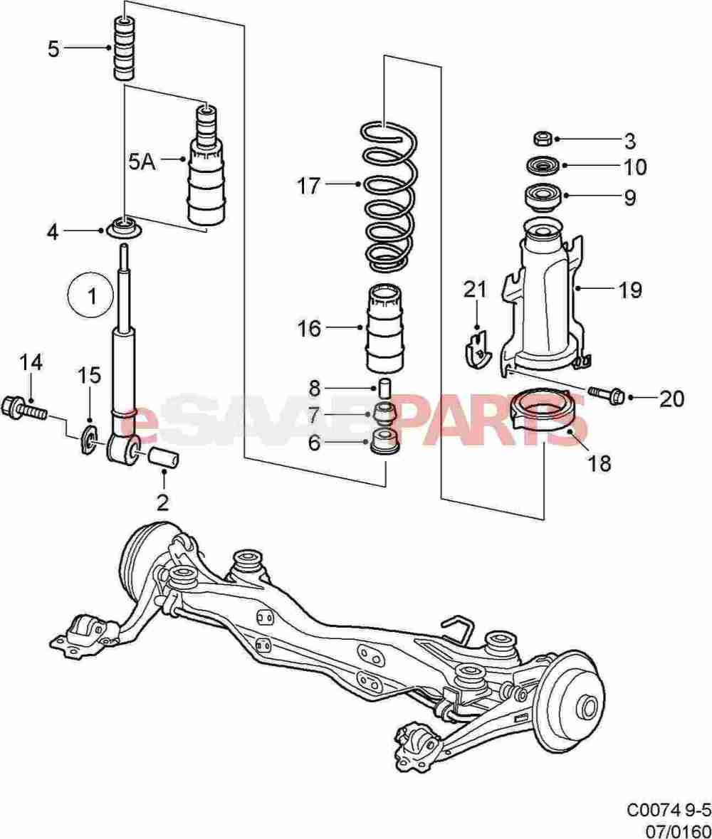 medium resolution of saab 9 5 rear suspension diagram
