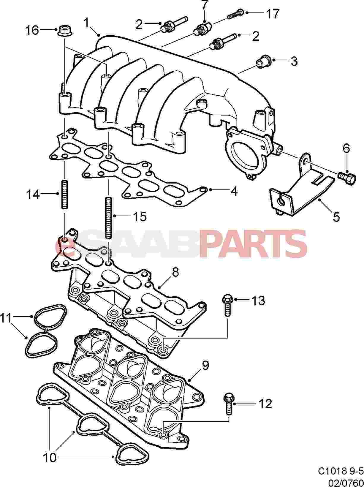Saab Charge Air Absolute Pressure Sensor