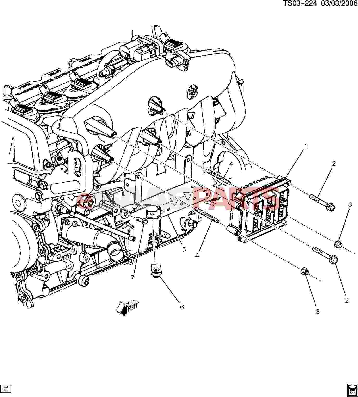 hight resolution of esaabparts com saab 9 7x electrical parts electronic modules p c m module wiring harness 4 2s