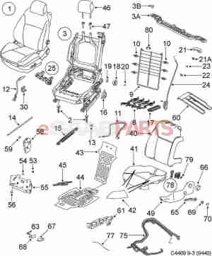 [12760542] SAAB Passenger Seat Occupancy Sensor  Genuine Saab Parts from eSaabParts