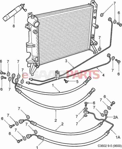 small resolution of esaabparts com saab 9 5 9600 transmission parts transmission automatic oil cooler at