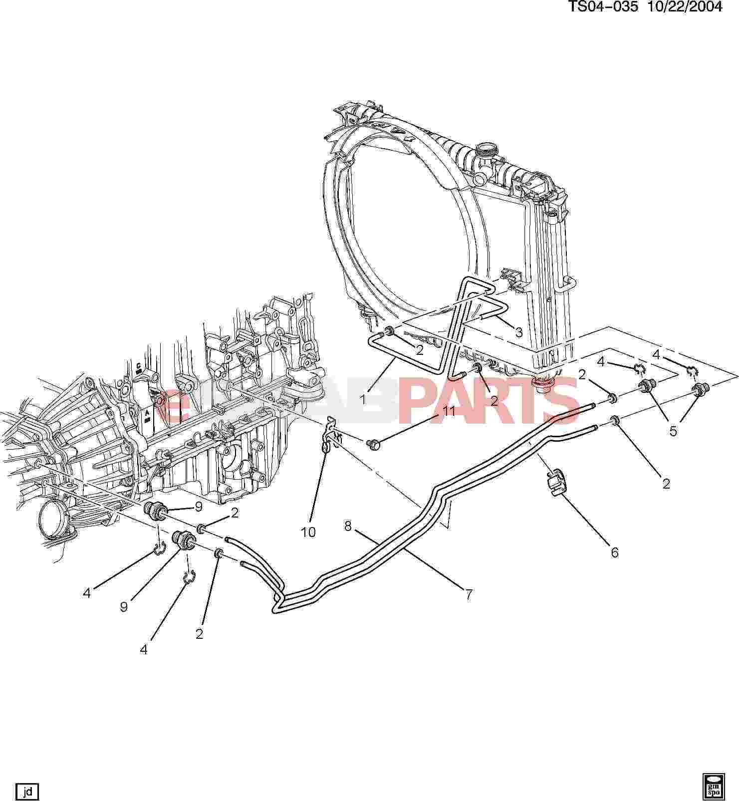 Saab Fitting Trans Fluid Clr Pipe