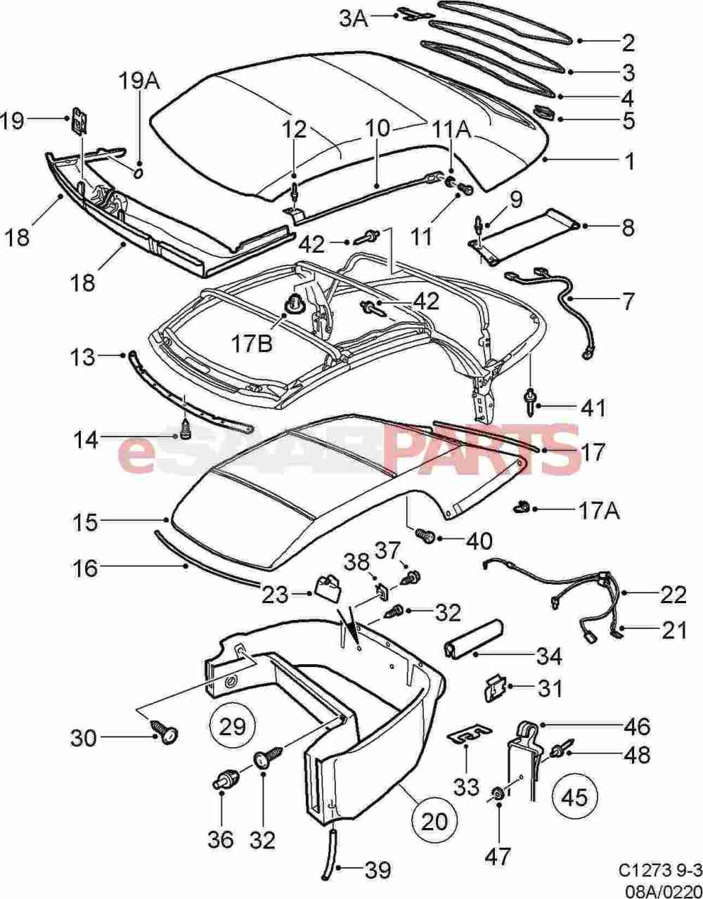 medium resolution of esaabparts com saab 9 5 wiring diagram pdf saab 9 5 towbar wiring diagram