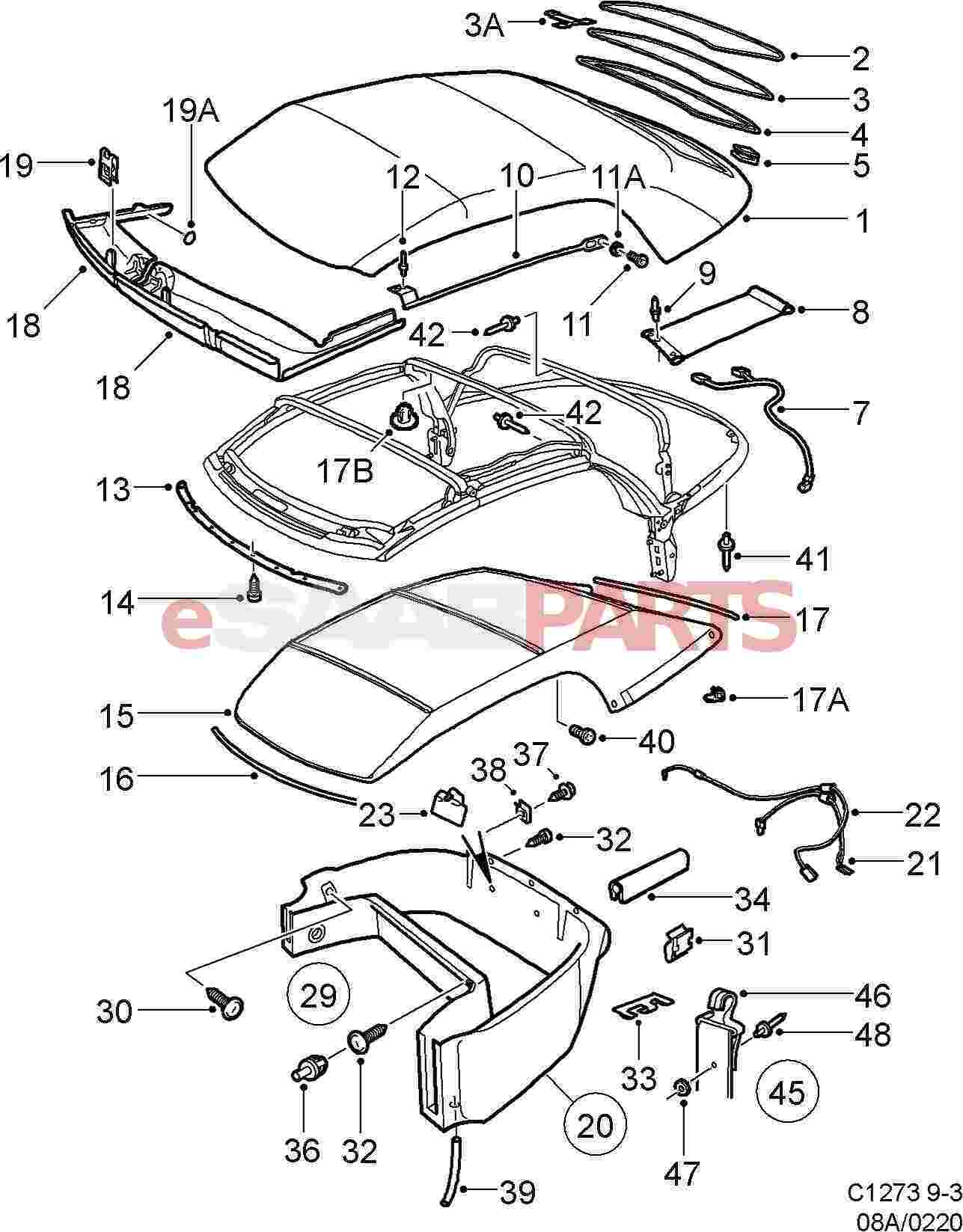 hight resolution of esaabparts com saab 9 5 wiring diagram pdf saab 9 5 towbar wiring diagram