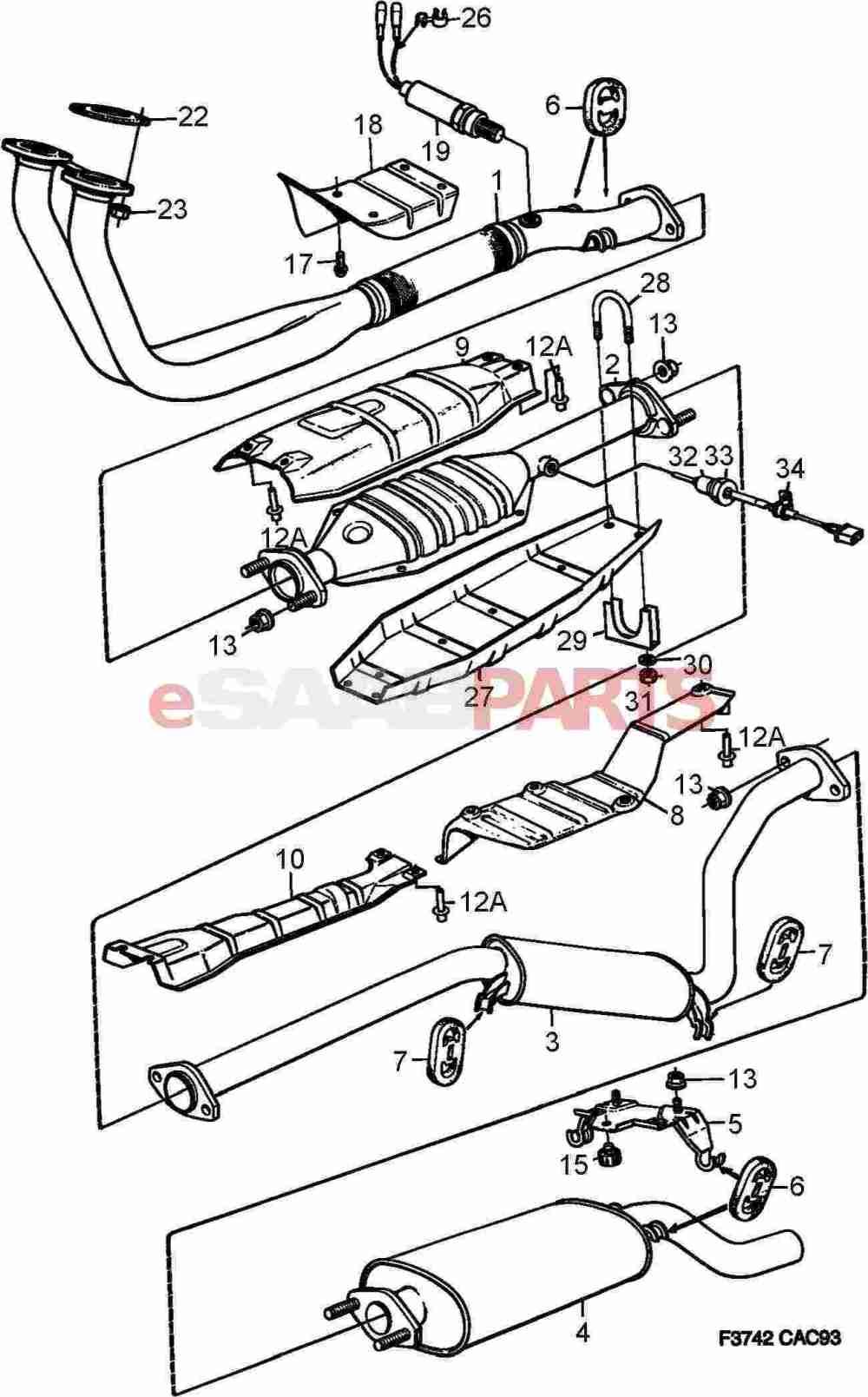 medium resolution of saab exhaust diagram wiring diagram go saab 9 5 towbar wiring diagram saab 95 wiring diagram